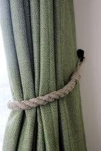 Natural flax hemp jute hessian rope curtain tie backs