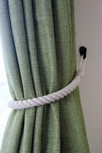 Natural cotton rope curtain tie backs