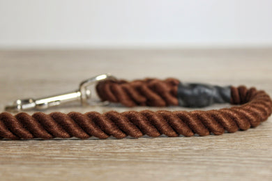 Outhwaites Dog Lead - Brown Trigger Hook