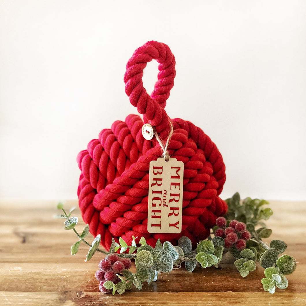 Merry & Bright Christmas Doorstop