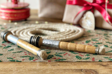 Vintage Handle Skipping Rope (Natural Jute Rope)