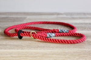 Outhwaites Dog Lead - Red Slip lead