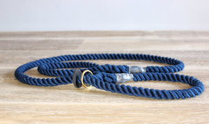 Outhwaites Dog Lead - Navy Slip Lead