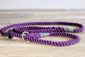 Outhwaites Dog Lead - Purple Slip Lead