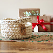 Personalised small rope baskets