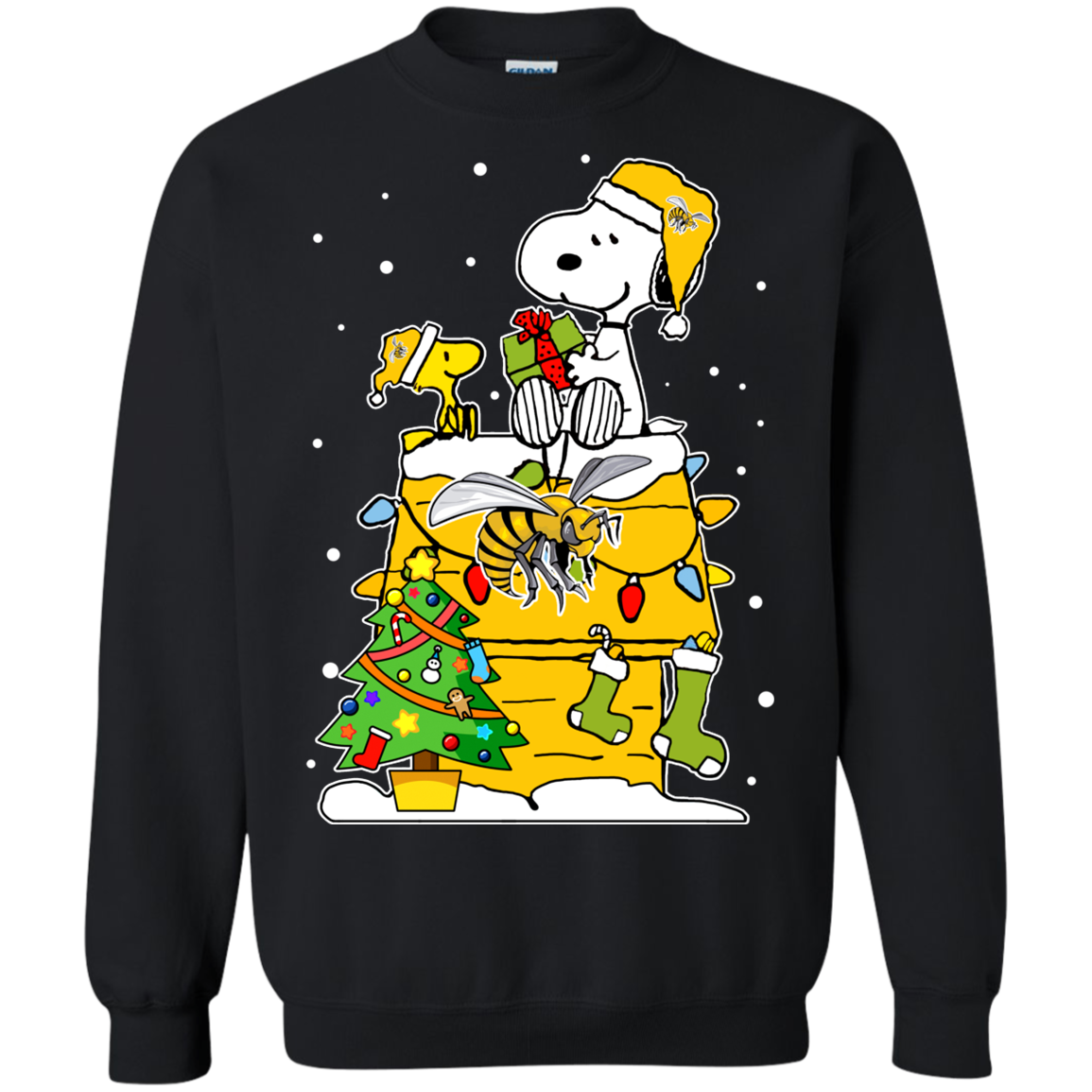 Alabama State Hornets Ugly Christmas Sweaters Snoopy T Shirt Hoodies
