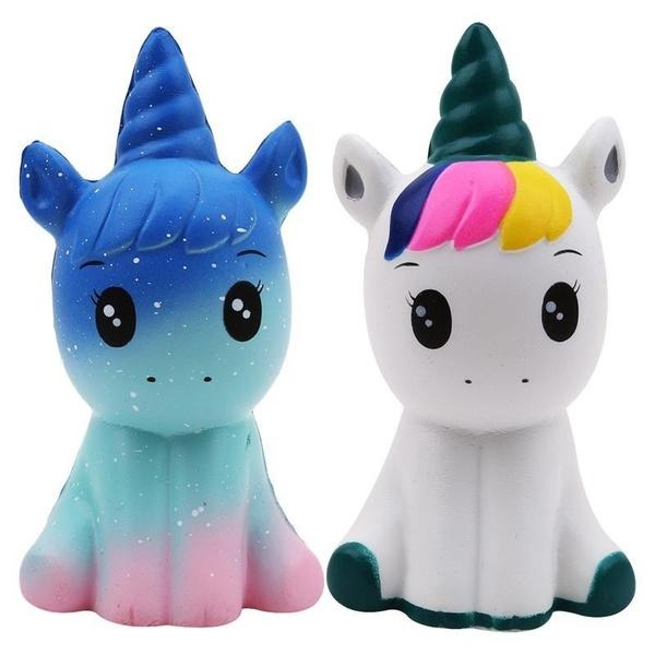 Novelty Gifts Kawaii Unicorn SquisLBes Slow Rising Doll Animal Collectibles