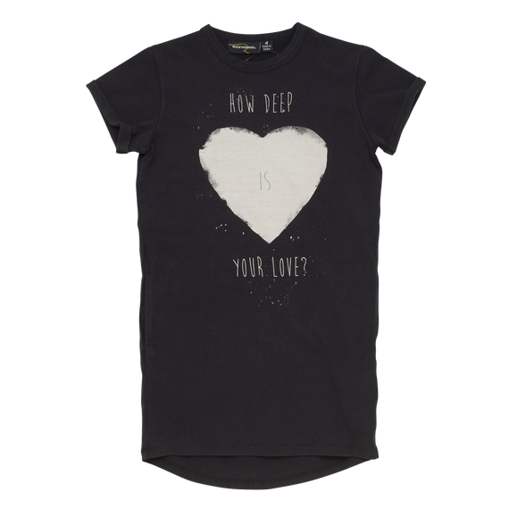 HOW DEEP IS YOUR LOVE - SS TEE DRESS - Mellie & Me