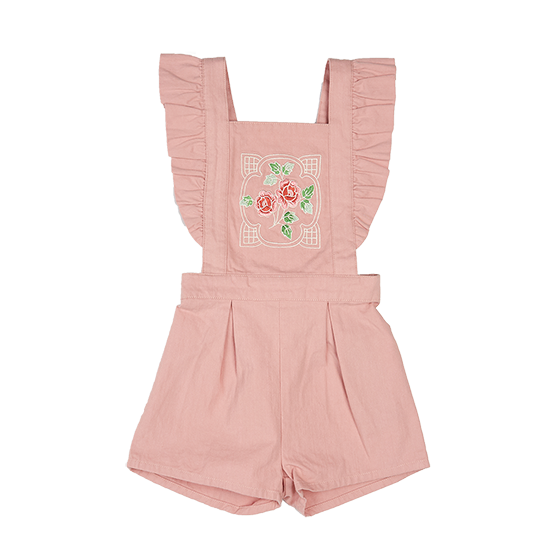 GIRLS PINK ROSE ROMPER | DUSTY PINK | ROCK YOUR BABY | MELLIE & ME - Mellie & Me