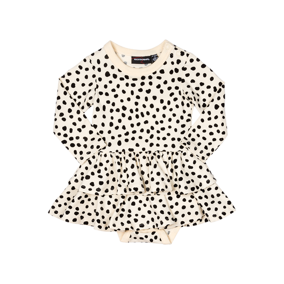 SPOT ON LONG SLEEVE OATMEAL DRESS | ROCK YOUR BABY | MELLIE & ME
