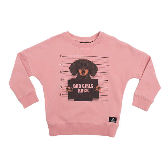 GIRLS SWEATSHIRT |BAD GIRLS ROCK SWEATSHIRT | ROCK YOUR BABY | MELLIE & ME - Mellie & Me