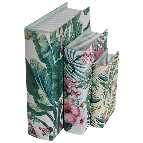 Decorative Storage Box Set (3) - Botanical Books - Mellie & Me
