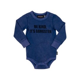 BODYSUIT| ONESIE | Be Kind It's Gangster LSTS | ROCK YOUR BABY | MELLIE & ME - Mellie & Me