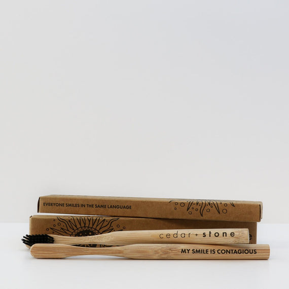 Bamboo charcoal Toothbrush - Mellie & Me