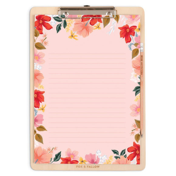 WILD ROSE A4 CLIPBOARD PACK 2