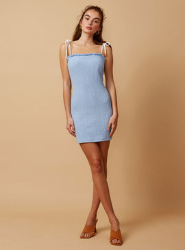 ECHO MINI DRESS | PALE BLUE | FINDERS KEEPERS THE LABEL | MELLIE & ME - Mellie & Me