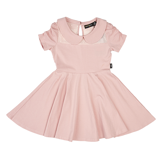 GATHERED SLEEVE WAISTED DRESS | ROCK YOUR BABY | MELLIE & ME - Mellie & Me