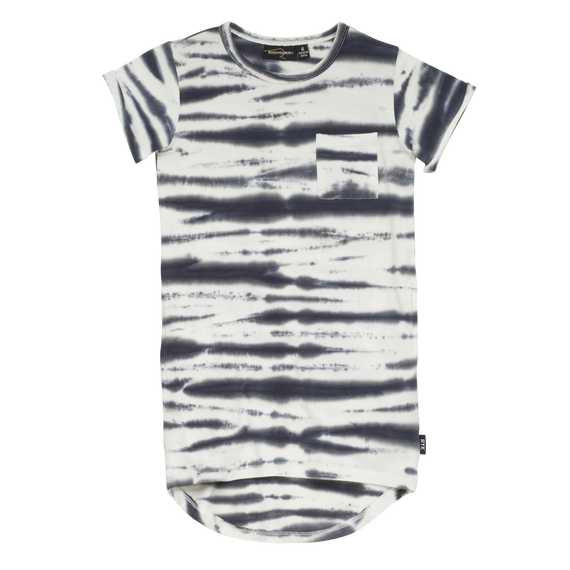 FLEETWOOD SS TEE DRESS | BLACK TIE DYE | ROCK YOUR BABY - Mellie & Me