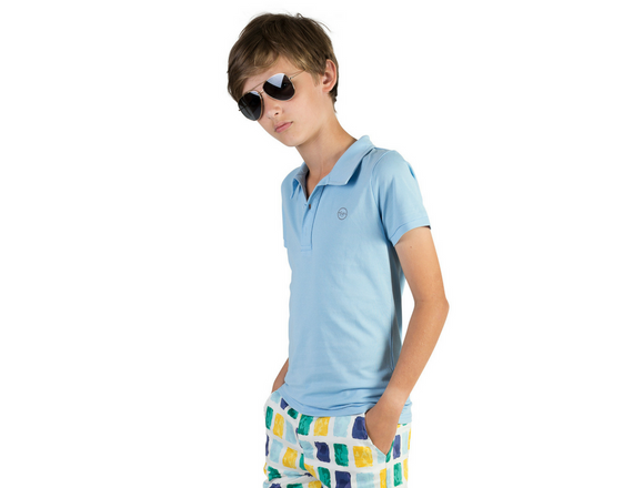 BOYS POLO SHIRT | ALLEGRA AND HARVEY | LIGHT BLUE |MELLIE & ME - Mellie & Me