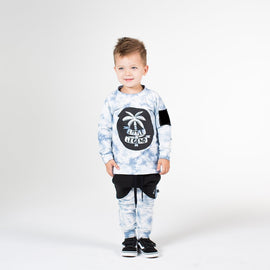 LITTLE LEGEND CREW BLUE TIE DYE | HELLO STRANGER | MELLIE & ME