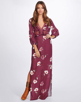 MADELIENE LADDER MAXI DRESS