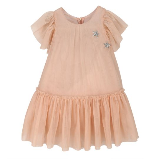 MAISIE DRESS | PEACH PINK |MISS ROSE SISTER VIOLET | MELLIE & ME