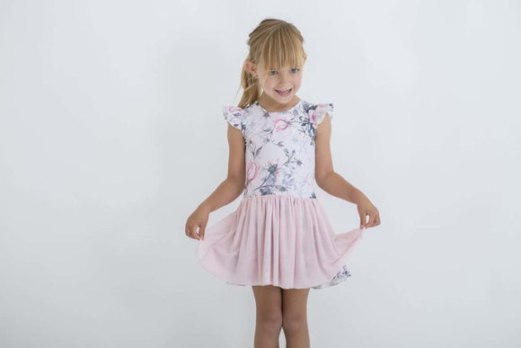 LUXE FRILL TUTU DRESS | PINK ROSE | LITTLE HEARTS CO | MELLIE & ME