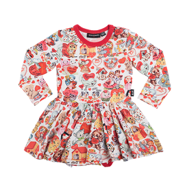 MY FUNNY VALENTINE | LONG SLEEVE WAISTED DRESS | ROCK YOUR BABY | MELLIE & ME