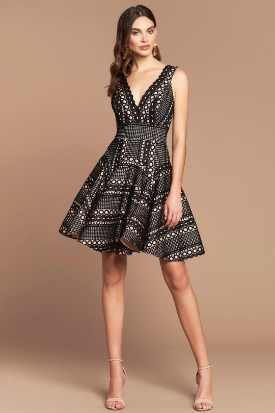 GIGI BONDED LACE DRESS | Black - Mellie & Me