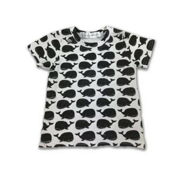 T-SHIRT | JAX WHALE TEE | ALLEGRA AND HARVEY | BLACK & WHITE