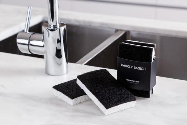 Black and White Scourer Sponge - Mellie & Me