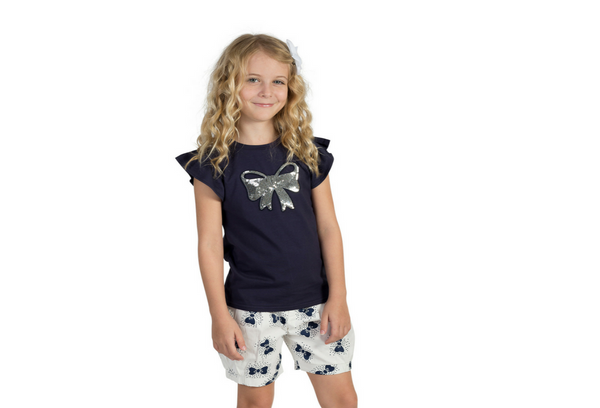 LUCY BOW BLOOMERS | NAVY (ink)