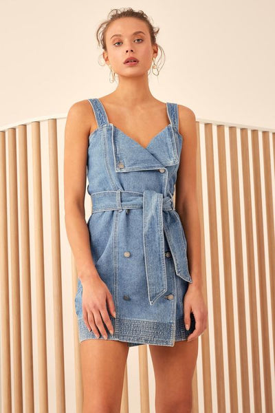 ESSENTIALS DRESS - DENIM - C/MEO COLLECTIVE @ MELLIE & ME - Mellie & Me