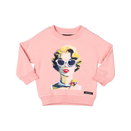 GIRLS JUMPER/SWEATSHIRT | VIBE JUMPER | DARK PINK | ROCK YOUR BABY | MELLIE & ME - Mellie & Me