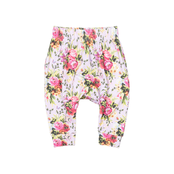 BOUQUETS PANTS | PINK | ROCK YOUR BABY | MELLIE & ME - Mellie & Me