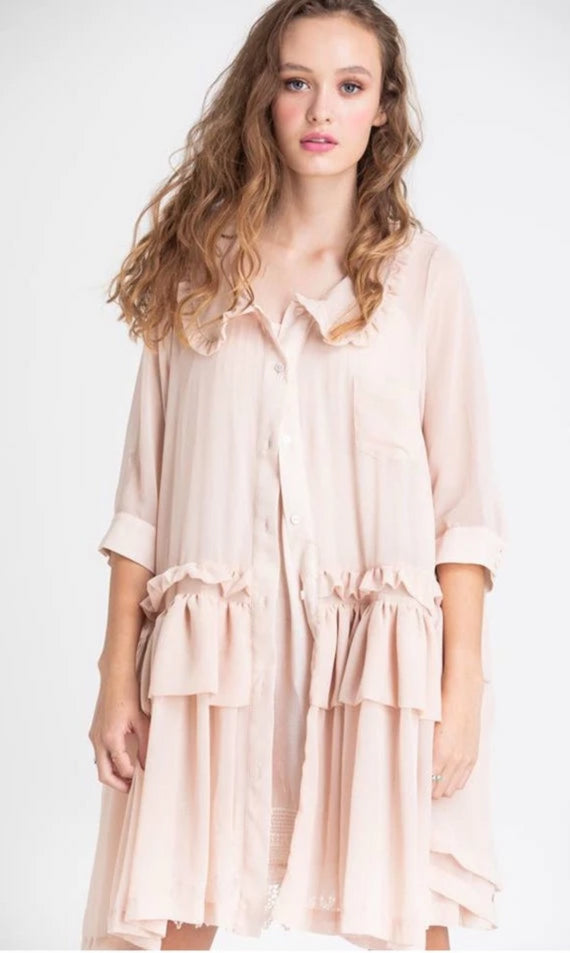 CHIFFON COAT DRESS - Mellie & Me