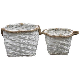 Woven Willow Basket - Rope