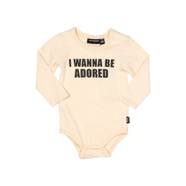 BODYSUIT | ONESIE | I Wanna Be Adored Bodysuit | ROCK YOUR BABY | MELLIE & ME - Mellie & Me