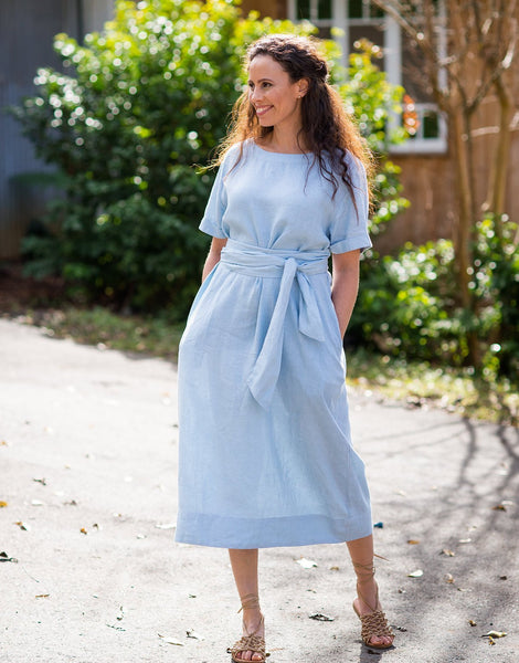 Rita Dress - Misty Blue