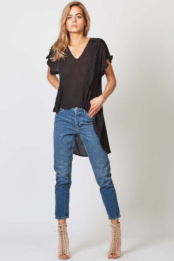 RIPTIDE BLOUSE - BLACK