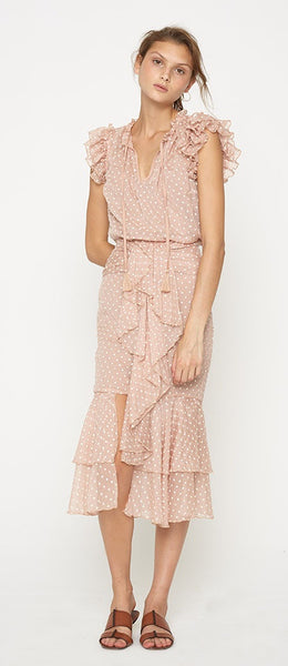 Eloise Midi Skirt - Powder Pink - Mellie & Me
