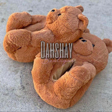 Load image into Gallery viewer, Teddy Bear Slippers