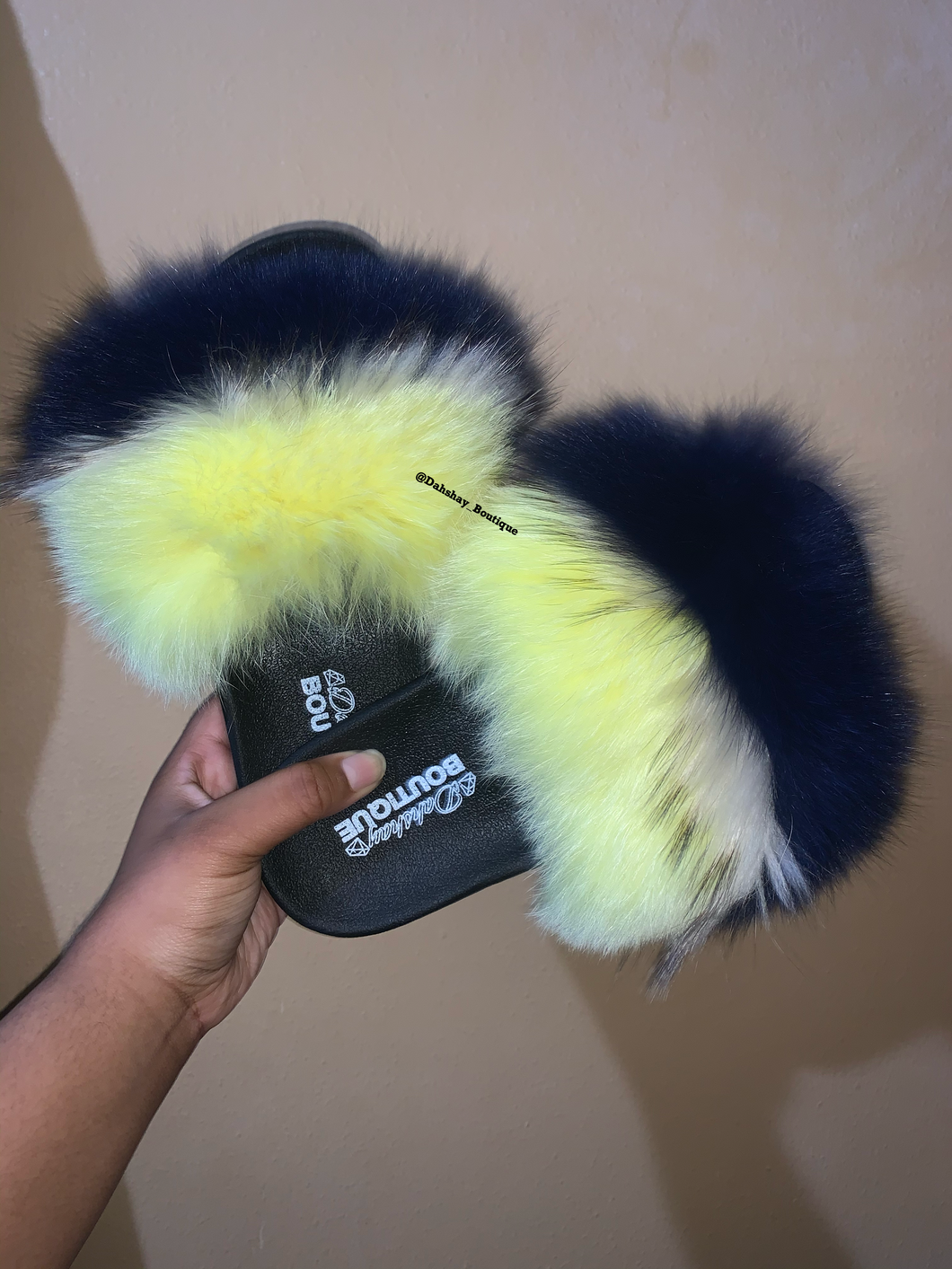 Blue and Yellow Fur Slides