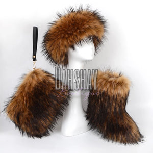 Raccoon Fur Set