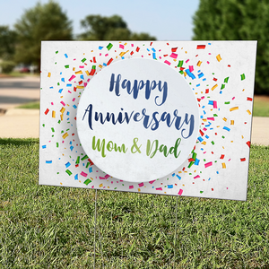 Custom Design Celebration Lawn Signs