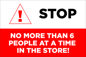 Stop, Only 6 Customers Sign