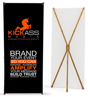 Bamboo X Banner Stand