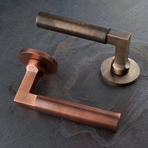 Churchfield Lever on Rose