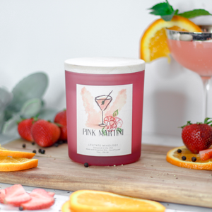 Load image into Gallery viewer, Pink Martini Candle