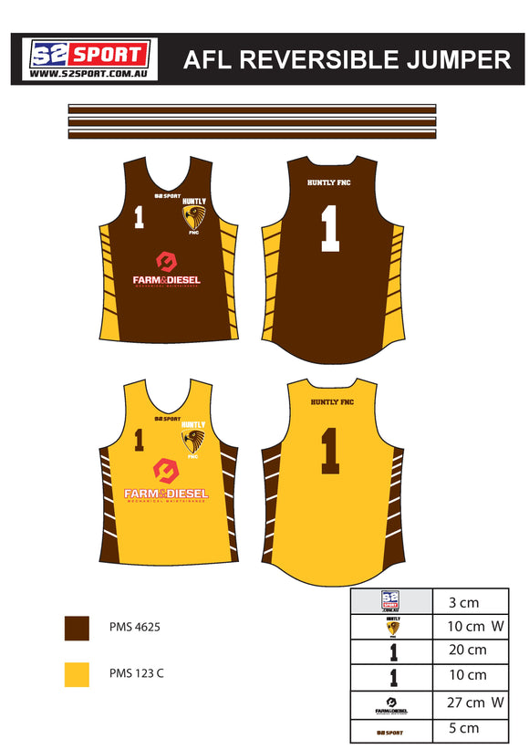 Huntly FNC AFL Reversible Jumper